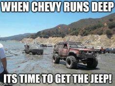 Jeepys: Jeep humor. Winch on a caged mod XJ!