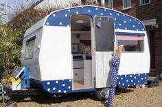 Dotty, 1964 sprite 400 vintage, retro caravan, fully restored, solar panel