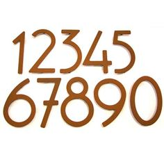 Art Deco house numbers - wont need to get very creative, bit sad really ;-)