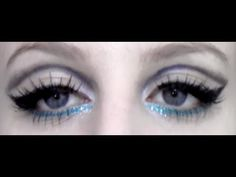 Edie Sedgwick/Twiggy Makeup Tutorial 60's  This chick is NUTS but really good at makeup