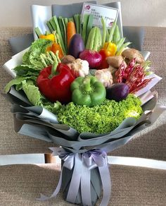 Food Bouquet, Gift Bouquet, Candy Bouquet, Vegetable Bouquet, Vegetable Basket, Fruit And Veg, Fruits And Vegetables, Veggies, Edible Arrangements