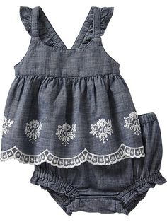 Chambray Tank & Bloomer Sets for Baby Product Image
