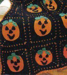 Pumpkin afghan (pattern) by momsloveofcrochet.com on allfreecrochetafghanpatterns.com