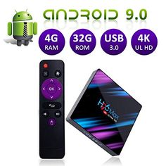 H96Max TV Box Android 9.0 4GB+32GB support YouTube Google dual band WiFi. Bluetooth