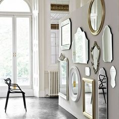 Mirror, Mirror Create a point of interest in a hallway. I love this walls of mirrors which adds interest.