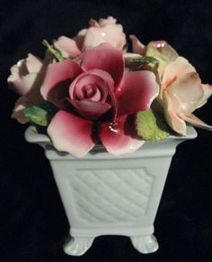 Thorlez  CHINA FLOWER POT Gorgeous  Vintage  No by GayleofWind, $35.00