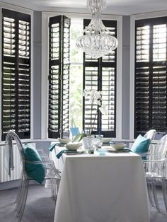 1000 images about plantation shutters on pinterest for Indoor wood shutters white
