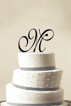 cake topper initial personalized wedding etsy