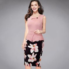 New Arrival Summer sleeveless Floral Casual Dress Elegant Casual