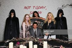 "Miranda Otto, Adeline Rudolph, Richard Coyle and Lucy Davis attends Netflix Original Series ""Chilling Adventures of Sabrina"" red carpet and premiere event on October 2018 in Los Angeles,. Hbo Series, Series Movies, Archie Comics, Sabrina Cast, Lgbt, Lucy Davis, Tv Icon, Sabrina Spellman, Frases"