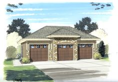 The Allan is a Mediterranean 3 car garage plan that combines form and function. Store your toys or give yourself that extra space you need to keep your home tidy.This is a single story traditional garage with 3 bays. It is built on a slab foundation. Garage Design, Roof Design, House Design, Exterior Design, Pergola Plans, Diy Pergola, Pergola Ideas, Pergola Shade, Pergola Kits