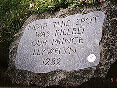 Llywelyn, the last true Prince of Wales murdered in 1282. What treachery! http://www.amazon.co.uk/dp/B00723672S