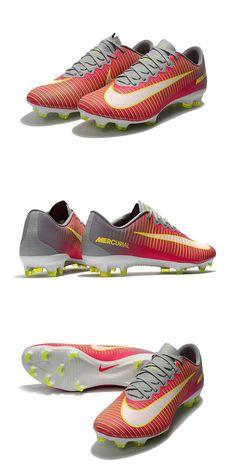 Rose Nike Mercurial Vapor 11 Empeigne en cuir synthétique avec arêtes horizontales en relief pour plus de contrôle.