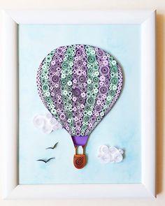 Hot Air Balloon Wall Art Hot Air Balloon Paper Art by Gericards