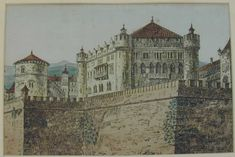 Castle Battlements by Adolf Hitler. I don't know why it never occurred to me that some of Adolf Hitler's paintings might still exist. Upon searching, I discovered several and several websites dedicated to discussions of Hitler's paintings.