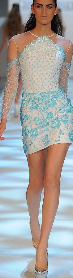 Passion For Fashion Turquoise Dreams| Serafini Amelia| Georges Chakra | The House of Beccaria