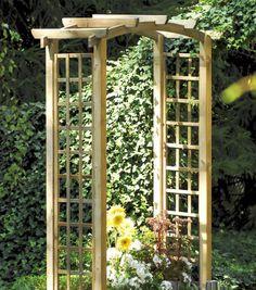 La pergola bois asceza a la forme classique d 39 une arche for Arche de jardin en bois