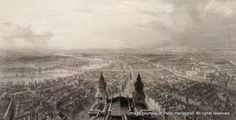 London, from the Upper Gallery of St. Paul's Cathedral by Thomas Allom, around 1850.