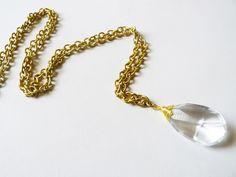 Thanks, I Made It : DIY Vintage Chandelier Crystal Necklace