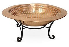 "One Kings Lane - Mix It Up - 29"" Copper Fire Pit w/ Handspun Lid"