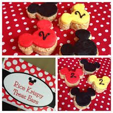 Mickey Mouse Party- rice krispy treat pops for Liam Mickey Mouse 1st Birthday, Mickey Mouse Clubhouse Party, Mickey Mouse Parties, Mickey Party, 3rd Birthday Parties, Birthday Ideas, 2nd Birthday, First Birthdays, Party Ideas