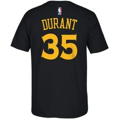adidas Men's Kevin Durant Golden State Warriors Player T-Shirt ($28) ❤ liked on Polyvore featuring men's fashion, men's clothing, men's shirts, men's t-shirts, black, adidas mens t shirt, adidas mens shirts and mens t shirts