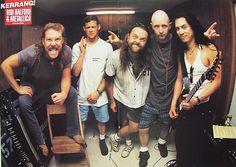 Rob Halford with Metallica (Jason looks strange here!)