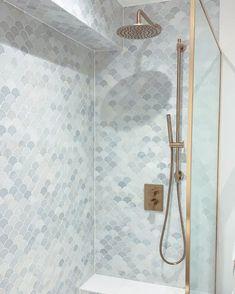 Bathroom Inspo, Bathroom Ideas, Bath Ideas, House Tiles, Guest Bath, Home Renovation, Home Decor Inspiration, Wall Lights, Interior Design