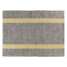 Beautifully textured, the Brecan extra large grey flat weave rug is hand woven with accents of bright yellow stripes, giving your room a smart look. Buy now at Habitat UK.