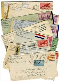 Letters from World War ll.  This will always be more romantic than emails or text messages.