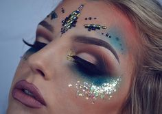 """701 Likes, 20 Comments - Makeup Artist (@maisyreisermakeup) on Instagram: """"Close up of my festival look using @itsinyourdreams glitter and face gems. #inglot #urbandecay…"""""""