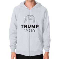 Trump 2016 Men's Zip Hoodie