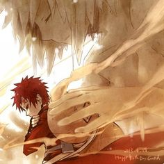 Gaara and his mother... Love this picture so much.
