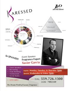Fragrance expert Xavier Garcia, speaking in spanish, http://www.karessed.com