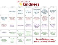 Ramadhan Calendar Kindness Inserts