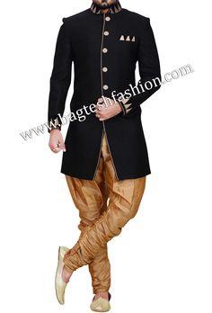 Adorable Black Indo Western Sherwani