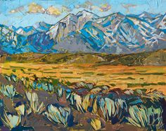 Contemporary impressionism painting of the eastern Sierras, by Erin Hanson Hall Painting, Large Painting, Painting Art, Erin Hanson, American Impressionism, Southwest Art, Your Paintings, Landscape Art, Painting Inspiration