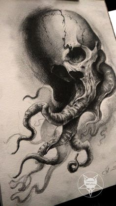 tentacles skull by AndreySkull.deviantart.com on @DeviantArt