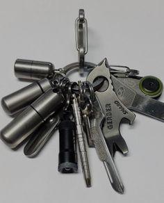 EDC Travel + Survival Keychain Kit