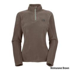 The North Face Womens TKA 100 Microvelour Glacier 1/4-Zip Pullover - Gander Mountain