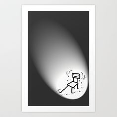 Where are the other chairs !? Art Print by sladja - $17.68