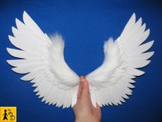 Angel wings for dolls - felt and faux fur by Jerseydays.deviantart.com