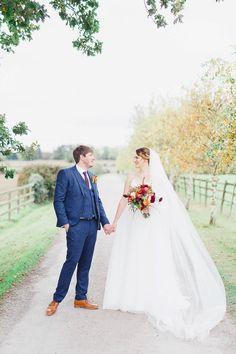 Magical Fairy Lit Autumn Barn Wedding
