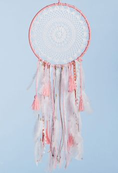 Atrapasueños : Grande Rosa Lace Dream Catchers, Dream Catcher Boho, Dream Catcher Tutorial, Teepee Party, Crochet Dreamcatcher, Diy And Crafts, Arts And Crafts, Rose Gold Decor, Creation Deco