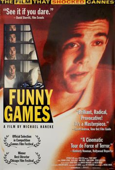 Funny Games posters for sale online. Buy Funny Games movie posters from Movie Poster Shop. We're your movie poster source for new releases and vintage movie posters. Tv Series Online, Great Films, Sale Poster, Funny Games, Cannes Film Festival, Vintage Movies, Thriller, Movie Tv, Poster