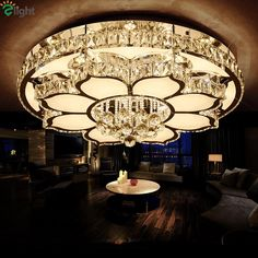 Luxury Modern Lustre Crystal Led Ceiling Chandelier Flower Chrome S Acrylic Chandelier, Lampshade Chandelier, Ceiling Chandelier, Modern Chandelier, Led Ceiling, Ceiling Design, Lamp Design, Corridor Lighting, Chandeliers