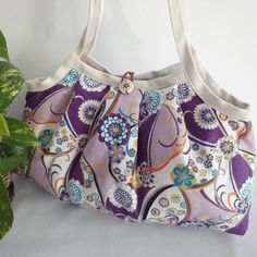 Japanese Kimono Pattern Granny bag purse flowers by MofLeema, $39.99