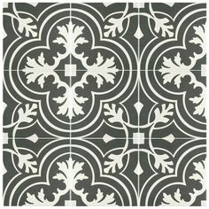 Merola Tile Twenties Classic Encaustic Ceramic Floor and Wall Tile - in. Tile - The Home Depot Floor Patterns, Wall Patterns, Damask Patterns, House Tiles, Wall Tiles, Room Tiles, Home Depot, Tiles For Less, Artistic Tile
