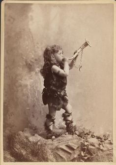 Max Alvary, Jr. as Siegfried (from the Wagner opera of the same name), his father's most famous role.