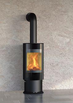 Design-Kamin-Ofen OLSBERG Königshütte Virgo Stahlkamin - Durch seine Drehfunktion haben Sie das Flammenspiel überall